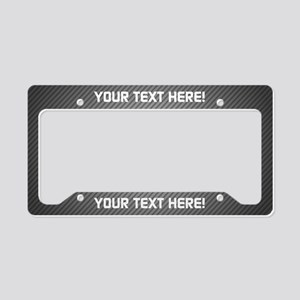 Custom Carbon License Plate Holder
