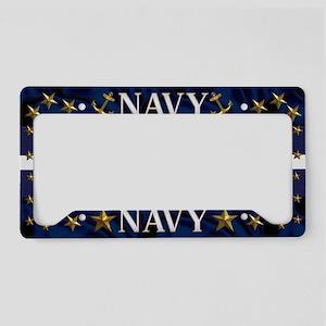 Harvest Moons Navy License Plate Holder