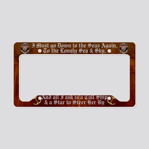 Harvest Moons Navy Shield License Plate Holder