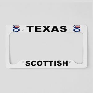 Texas Scottish American License Plate Holder
