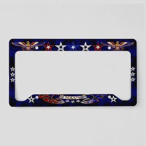 Harvest Moons Navy Eagle License Plate Holder