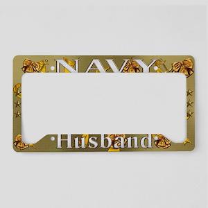Harvest Moons Navy Husband License Plate Holder