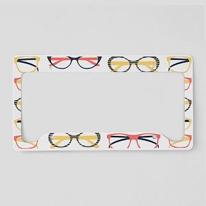 Hipster Glasses License Plate Holder
