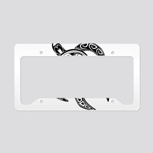 Black Hawaiian Turtle-2 License Plate Holder