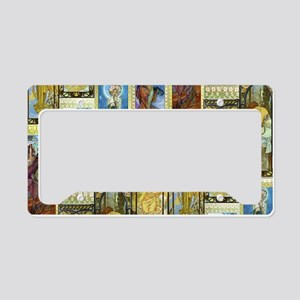 Mucha's Night and Day License Plate Holder