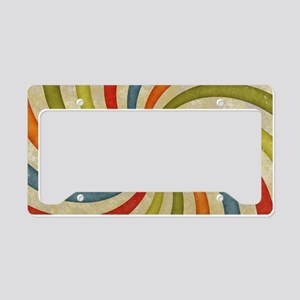 Psychedelic Retro Swirl License Plate Holder