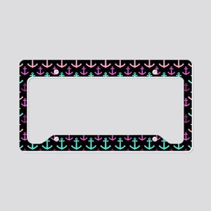 Trendy Nautical Anchor Patter License Plate Holder