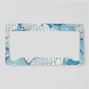 Ocean Waves License Plate Holder