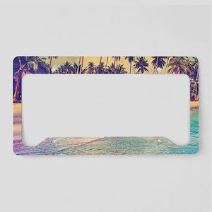Tropical Island License Plate Holder