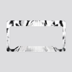 Realistic Tiger Painting License Plate Holder