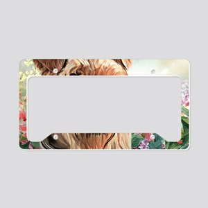 Airedale Painting License Plate Holder