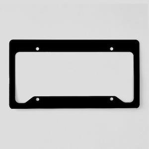 Solid Black License Plate Holder