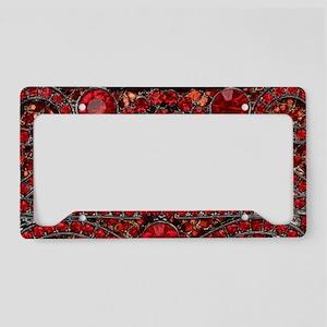 bohemian gothic red rhineston License Plate Holder