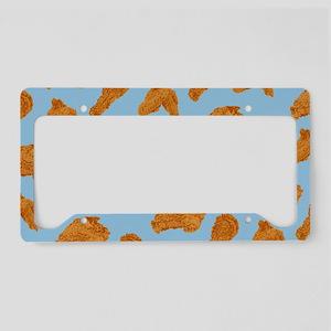 Fried Chicken Pattern License Plate Holder