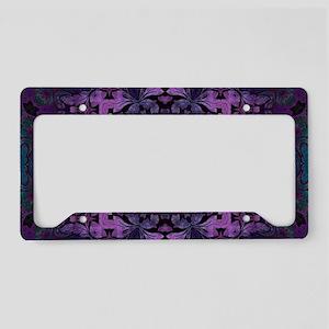 Gothic vintage purple abstrac License Plate Holder