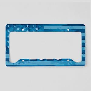 Trump 2020 Blue Flag License Plate Holder