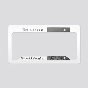 The Desire To Be Free License Plate Holder
