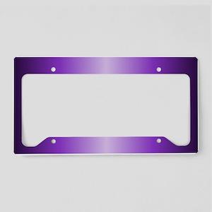 Purple Metallic Shiny License Plate Holder