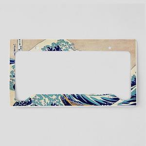 Great Wave Off Kanagawa License Plate Holder