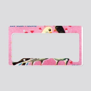 The Two Pigeons Fable French  License Plate Holder