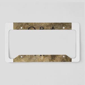 Q A License Plate Holder