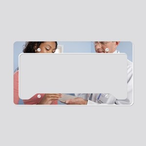 Cosmetic breast surgery License Plate Holder