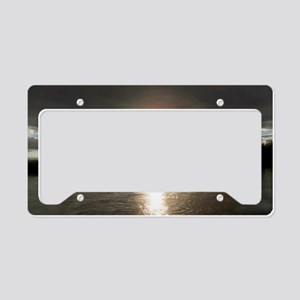A Glowing Sun License Plate Holder