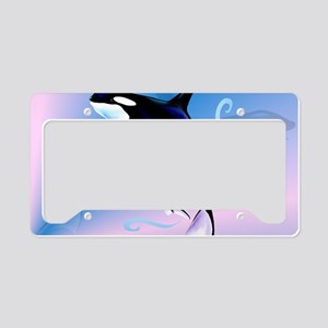 Orca Mom and Baby-Yardsign License Plate Holder
