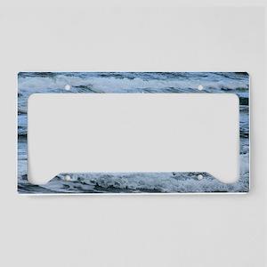 Waves License Plate Holder
