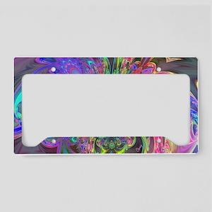 Glowing Burst of Color Deva License Plate Holder