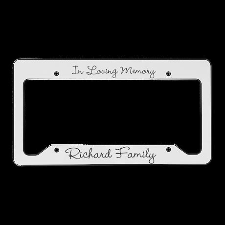In Loving Memory Customizable License Plate Holder