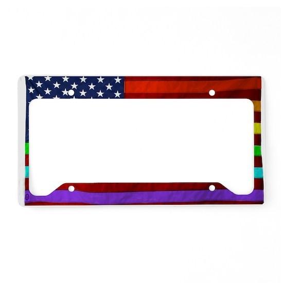 Gay Rights Rainbow Patriotic Flag