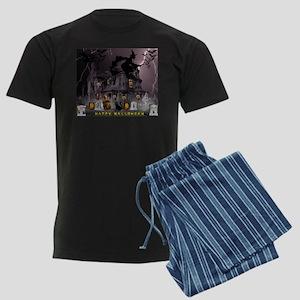 Witches Haunted House Men's Dark Pajamas