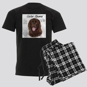 Cocker Spaniel (brown) Men's Dark Pajamas
