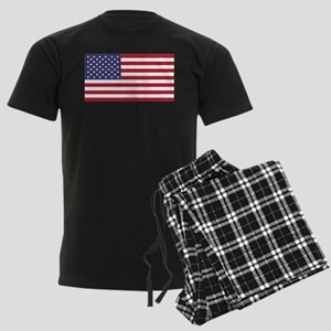American Flag Men's Dark Pajamas