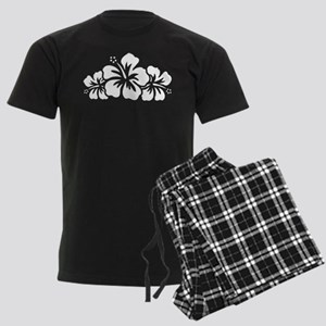 Hawaiian Flower Men's Dark Pajamas