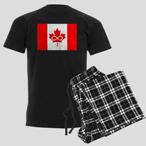 Canadian Metis Flag Men's Dark Pajamas