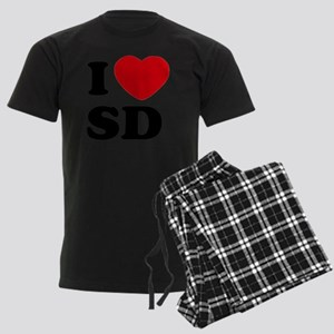 I Love SD Large Men's Dark Pajamas