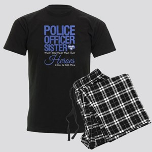 Proud Sister of a Police Offic Men's Dark Pajamas