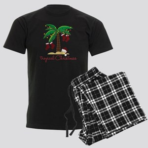 Tropical Christmas Men's Dark Pajamas