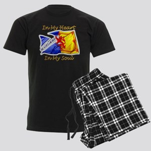 Scotland in my heart Men's Dark Pajamas