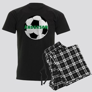 Personalized Soccer Men's Dark Pajamas
