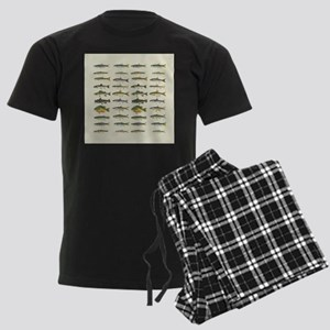 Freshwater Fish Chart Men's Dark Pajamas
