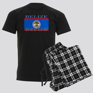 Belize Belizean Flag Men's Dark Pajamas