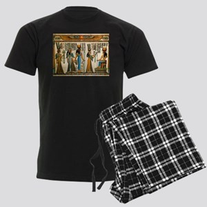 Ancient Egyptian Wall Tapestry Men's Dark Pajamas