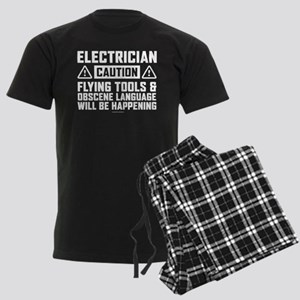 Caution Electrician Men's Dark Pajamas