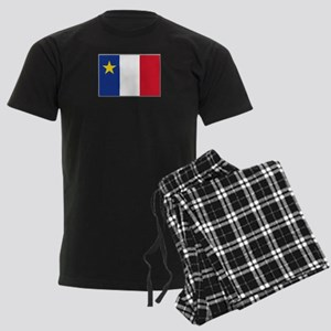 Flag of Acadia Men's Dark Pajamas
