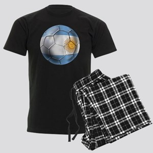 Argentina Football Men's Dark Pajamas