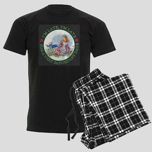 I'm Late , I'm Late, For a Ver Men's Dark Pajamas