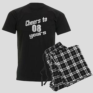 Cheers To 08 Years Men's Dark Pajamas